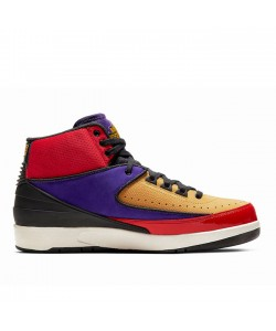 Jordan 2 WMNS Multicolor University Red/Black-Court Purple CT6244-60