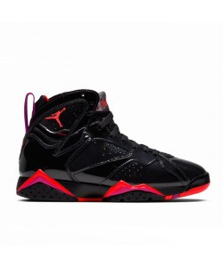 Womens 7s Retro Jordans Black Patent Leather 313358-006