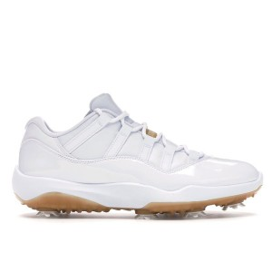 New Jordan 11 Low Golf White Metallic Gold