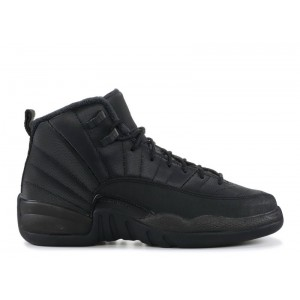 Air Jordan 12 Retro Winter Triple Black GS bq6852 001