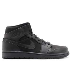 Air Jordan 1 Mid Triple Black 554724 011