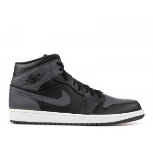 Air Jordan 1 Mid Dark Grey Mens 554724 041