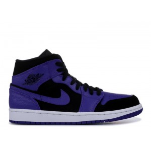 Air Jordan 1 Mid Black Dark Concord 554724 051