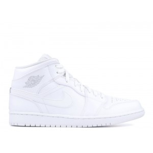 Air Jordan 1 Mid Triple White 554724 104