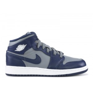 Air Jordan 1 Mid GS Georgetown 554725 006