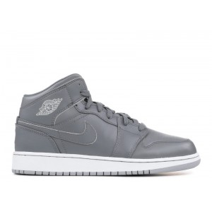 Air Jordan 1 Mid Cool Grey Wolf Grey BG 554725 031
