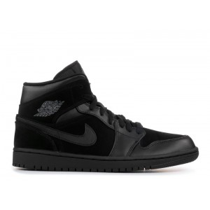 Air Jordan 1 Mid Black Dark Grey 554724 050