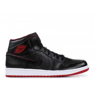 Air Jordan 1 Mid Black Red 554724 028