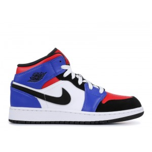 Air Jordan 1 Mid Top 3 GS 554725 124