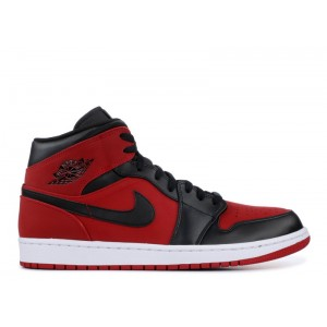 Air Jordan 1 Mid Gym Red Black 554724 610