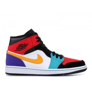 Air Jordan 1 Mid Multi-color 554724 125