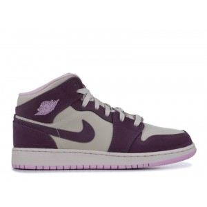 Air Jordan 1 Mid Purple Dust 555112 500