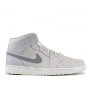 Air Jordan 1 Mid SE Light Bone Grey Fog 852542 003 Sale Online