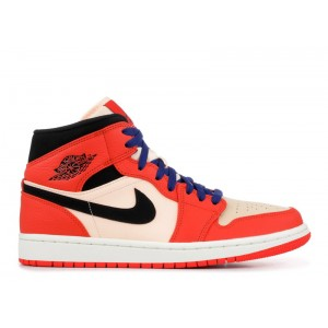 Air Jordan 1 Mid SE Team Orange 852542 800