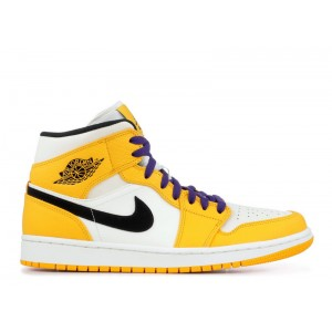 Air Jordan 1 Mid SE Lakers 852542 700