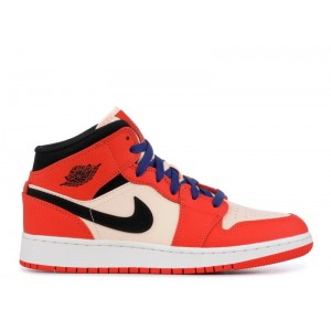 Air Jordan 1 Mid SE Team Orange GS BQ6931 800