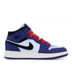 Air Jordan 1 Mid Spider-Man Deep Royal GS BQ6931-400