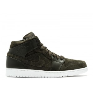 Air Jordan 1 Mid Sequoia Max Orange 554724 302 Cheap Online