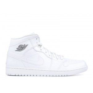 Air Jordan 1 Mid White Cool Grey 554724 102