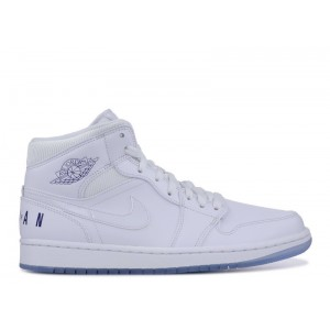 Air Jordan Retro 1 Mid Pure White bq6578 100