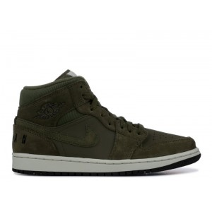 Air Jordan 1 Mid Olive Canvas bq6579 300