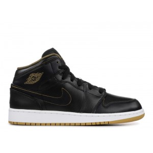 Air Jordan 1 Mid Royalty Black GS 554725 042