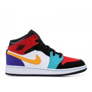 Air Jordan 1 Mid Multicolor GS 554725 125