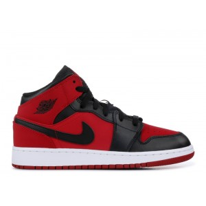 Air Jordan 1 Mid GS Gym Red Black 554725 610