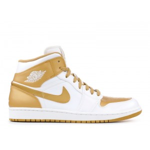 Air Jordan 1 Phat White Metallic Gold 364770 130