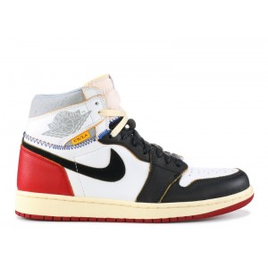 Air Jordan 1 Retro High Nrg Union Black Toe Mens BV1300 106