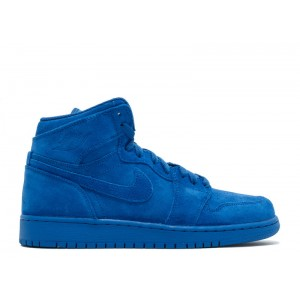 Air Jordan 1 Retro High Bg GS Blue Suede 705300 404 Hot Sale