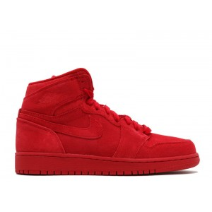 New Air Jordan 1 Retro High Bg GS Red Suede 705300 603 Hot Sale