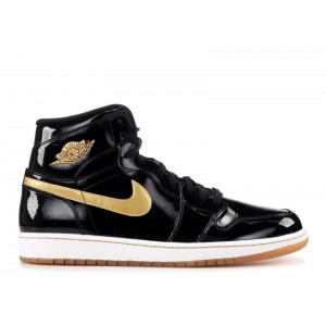 Air Jordan 1 Retro High Og Black And Gold 555088 019