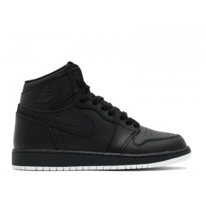 Air Jordan 1 Retro High OG Perforated Black White BG Women's 575441 002