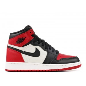 Air Jordan 1 Retro High OG Bred Toe BG GS 575441 610