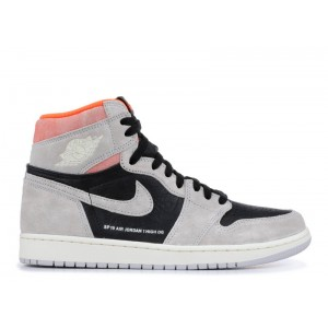 Air Jordan 1 Retro High Og Grey Crimson 555088 018