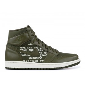 Air Jordan 1 Retro High OG Olive Canvas Mens 555088 300
