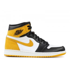 Air Jordan 1 Retro High OG Yellow Ochre Mens 555088 109