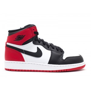 Air Jordan 1 Retro High OG Black Toe GS Women's 575441 184