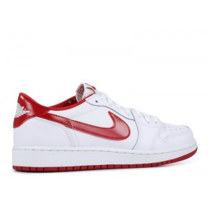 Air Jordan 1 Retro Low White Varsity Red BG 709999 101