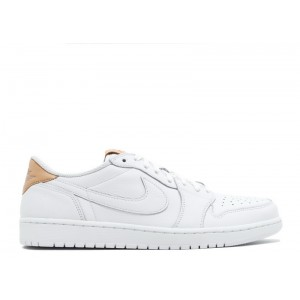 Air Jordan 1 Retro Low OG Premium White Tan 905136 100