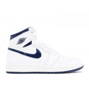 Air Jordan 1 Retro OG Metallic Navy GS 575441 106