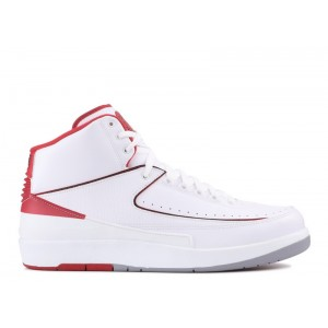 Air Jordan 2 Retro White Varsity Red 385475 102
