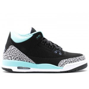 Air Jordan 3 Retro Black Mint GS Womens 441140 045