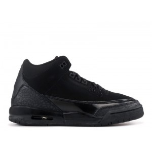 Air Jordan 3 Retro Black Cat GS Womens 834014 002