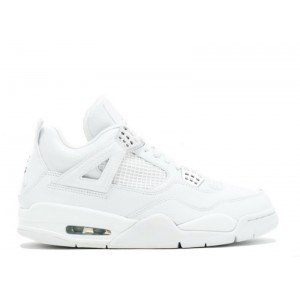 Air Jordan 4 Retro Pure White Metallic Silver 308497 102
