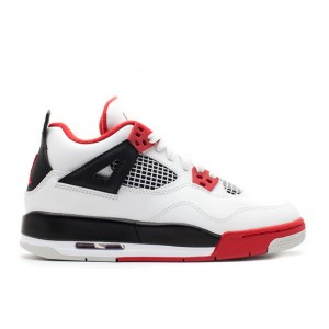 Air Jordan 4 Retro White Varsity Red Black 2012 GS 408452 110