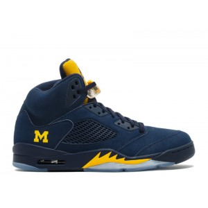 Air Jordan 5 Retro Michigan PE 645668 636 Hot Sale