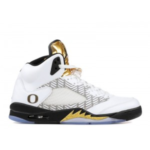 Air Jordan 5 Retro PE Oregon Duck Olympic Gold 136027 133A