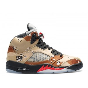 Air Jordan 5 Retro Supreme Desert Camo 824371 201